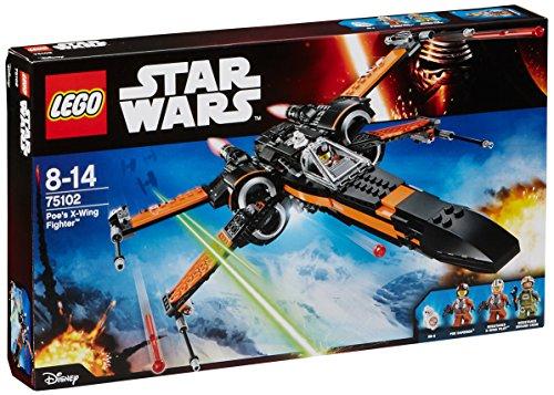 LEGO - FighterPoe\'s Fighter, Star Wars-Poe\'s X-Wing Fighter (75102)