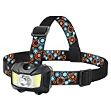 Headlamp, BESWILL Touch Sensitive Head Flashlight 4 Modes 2.9OZ Battery Powered, Super Bright 200 Lumen Max White Led + Red Light Perfect for Camping Running Reading …