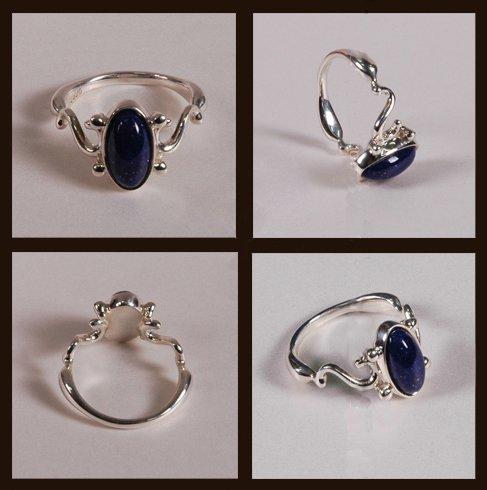 ISLAND GIFTS - Vampire Diaries Elena Daylight Lapislázuli anillo de plata tamaño 7 (17,35 mm, o tamaño O) auténtica réplica de prop