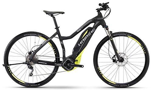 HAIBIKE Sduro Cross SL Damen schwarz/lime/grau matt Rahmengröße 48 cm 2016 E-Crossbike
