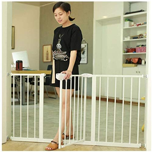 Extra Wide Extra Tall And Wide Baby Safety Gate For Stairs Walk Through Easy Auto Close Fireplace Fence Bonus Kit Includes 4-Inch Extension Safety Fence ( ColOr : High76cm Width , Size : 180-187cm )