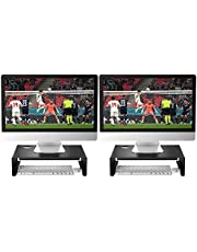 Newaner Monitor stand, Monitorstandaard Para iMac Latpop Notebook Compatibel met 22-32 inch Monitor inclusief Hp Acer Aoc Asus Sumsung msi Lg Dell Lenovo, tot 30 kg, zwart (2 Pack)