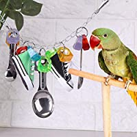 鳥のおもちゃ、大きな胸のための装飾をぶら下げオウムのおもちゃのケージ ヨウムのアレクサンダー