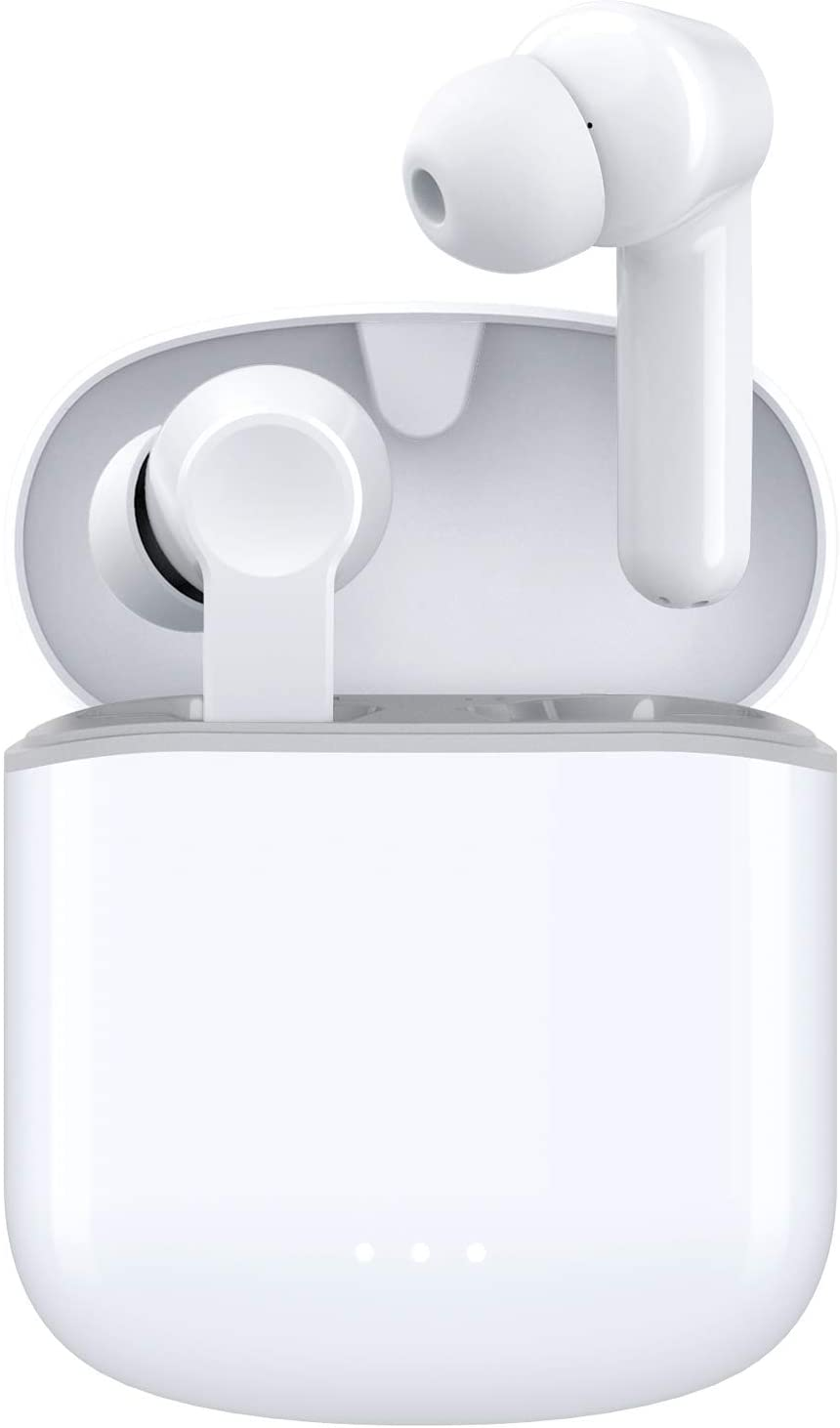 Wireless Earbuds, Bluetooth 5.0 Earbuds Hi-Fi Stereo Headphones 30H Playtime True Wireless Earbuds IPX6 Waterproof Earphones in-Ear Headphones with Mic and USB C for Working/Travel/Gym(White)