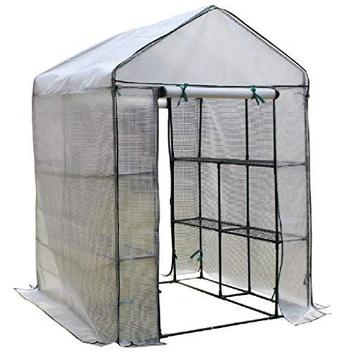 Serres de Jardin Tunnel Mini Chaude portative pour l'hiver, Verte de Jardin d'envergure d'intérieur d'intérieur d'usine de Tomate Tomate (Taille : 280×140×195CM)
