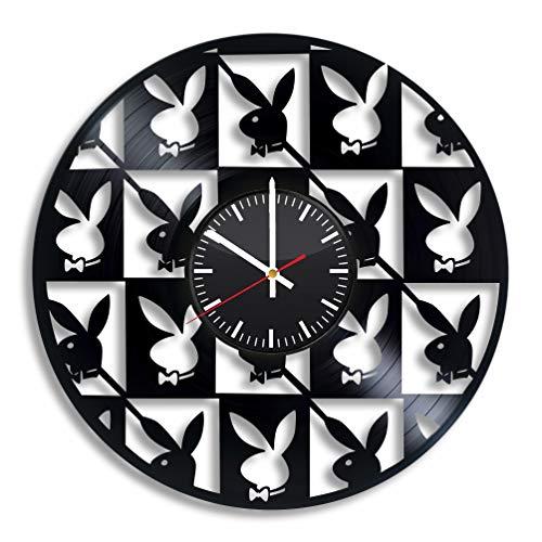Playboy vinyl wall clock, Playboy Gift Clock, Housewarming Present, HEFNER Gift for Man Playboy, Playboy Arts gift for any occasion