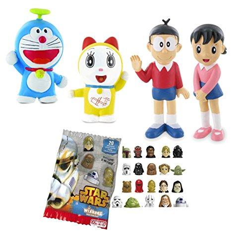Comansi Lote 4 Figuras Doraemon - Nobita - Shizuka - Doraemon - Dorami + Regalo