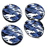 Biomar Labs® 4 x 60mm Tapas de Rueda de Centro Tapacubos para Coche Camuflaje Militar C 21