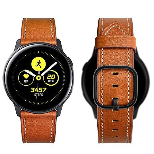 Aottom Compatible con Correa Samsung Galaxy Watch Active 2 44mm 40mm Piel Correa 20mm Reloj Samsung Galaxy Watch 3 41mm Pulsera para Samsung Galaxy Watch 42mm/Active/Garmin vívoactive/Huawei Watch GT2
