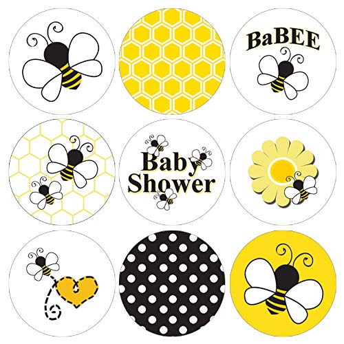 Bumble Bee Baby Shower Favor Stickers - 180 Labels