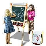 Symiu PizarraInfantil Caballete Pintura para Niños3 EN 1 PizarraMagnética Ajustable Juegos con Tarjetas Magnéticas y Bolígrafos Regalos para Niños Niñas 3 4 5 6 7 Años