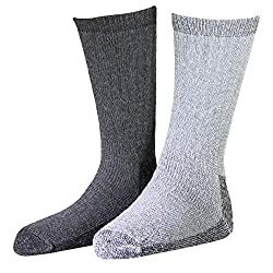 powerful Woolrich Men's Ultimate Merino Wool Extreme Cold Socks 2 Pack Charcoal  Gray Large