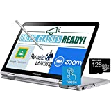 2020 Samsung Chromebook Plus V2 12.2 Inch FHD 1200P Touchscreen 2-in-1 Laptop, Intel Core m3-7Y30, 4GB RAM, 64GB eMMC, WiFi, Webcam, Chrome OS + NexiGo 128GB MicroSD Card Bundle, Pen Included