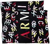 ARMANI EXCHANGE Scarf Sciarpa di Moda, Black/Multicolor, TU Donna