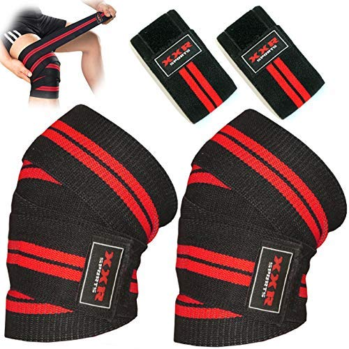 ZOR Power Weight Lifting Knee Wraps Lifter Lifting Wraps 74