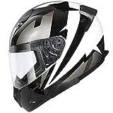 GAOZHE Casco de Moto Integral Adultos con Doble Visera Casco Moto Modular ECE Homologado -Casco para Moto | Jet Casco Sprint | Casco de Motocicleta Abierto | Casco Jet Abierto | Casco Moto Jet Visera