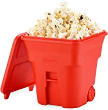 KECOP Microwave Popcorn Popper, Silicone Air Popper Popcorn Maker, Collapsible Space-Saving Popcorn Bowl with Lid, BPA Free and Dishwasher Safe for Home, Save on Popcorn Machine and Bags, Red