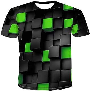 RCFRGV Camisa 3DT Camiseta b/ásica para Hombre//Club Chic de la Calle Estampado Animal Cuello Redondo Amarillo XXXL//Manga Corta
