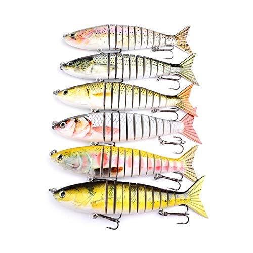 ZTLY Pesca con Cebo Kit Cucharada Variedad de Herramientas Gallo Cola Trucha Trucha Salmón Espinacas Cuchara corneal leucoplasia Surtido de Metal Duro Cebo Cebo