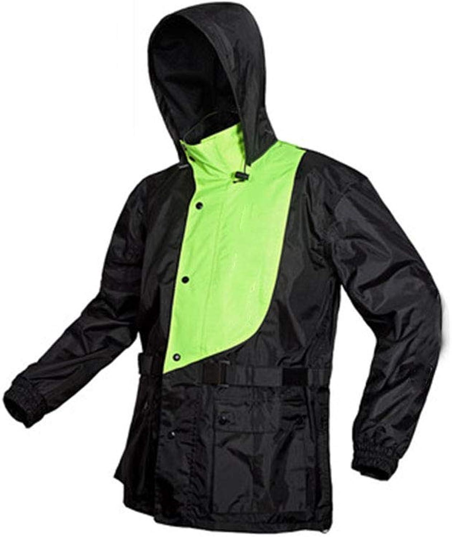 JTWJ Regenmantel-Regenhosenanzüge, Herren- und Damen-Split-Regenmntel, geeignet für Regentage, Wandern, Camping oder andere Outdoor-Aktivitten. (Farbe   schwarz Grün, gre   M)