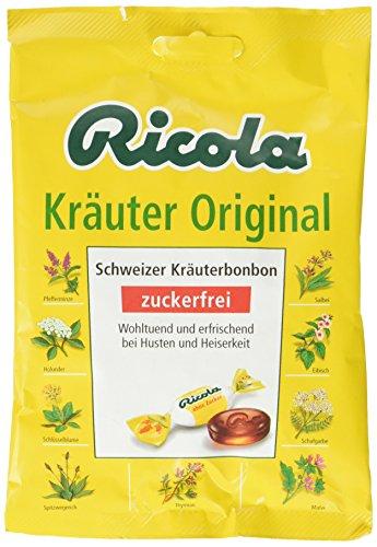 Ricola Bonbons Kräuter Original ohne Zucker, 9er Pack (9x 75 g)