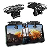 Newseego Mobile Game Controllers, [Quicker Response] Phone Trigger Key Mobile Shooter Aim & Fire Buttons Physical Joystick for Knives Out/PUBG/Rules of Survival L1R1 for iOS Android Phone, Black