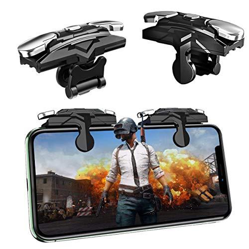 Newseego PUBG Mobile Game Controller, Mobile Telefonauslöser Trigger L1R1 Sensitive Shooter Empfindliche Controller Joysticks für PUBG/Knives Out/Überlebensregeln (1 Paar Mobile Auslöser),Schwarz