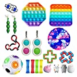 SASKATE Juguetes de burbujas de empuje, juguetes sensoriales para hiperactividad, autismo, necesidades especiales, alivio del estrés, juguetes de mano, juguetes de terapia