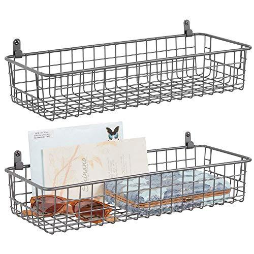 MDesign Juego 2 estantes pared metal –