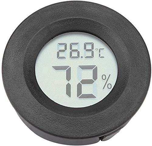 ZHITING Thermomètre hygromètre numérique de forme ronde pour intérieur avec écran LCD Celsius °C pour humidificateurs, serre