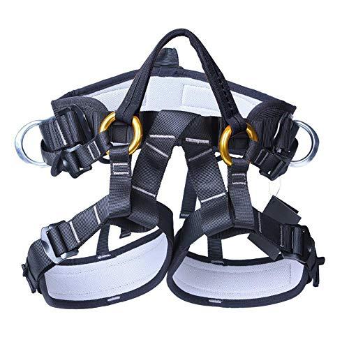 seasaleshop Mehrzweck Klettergurt Taille Hüfte Schutz Gürtel für Bergsteigen Baumklettern Mehrzweck-Outdoor Half Body Harness Outdoor Ausrüstung Klettern