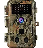Game Trail Deer Camera No Glow 20MP 1920x1080P Night Vision Motion Activated 0.2S Trigger IP66 Waterproof Time Lapse Photo & Video Model Password Protected for Outdoor Wildlife Hunting & Home Security