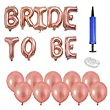 TIMESETL Bride to BE Luftballons Rosa Gold 13Teilig 16Zoll Bride to BE Ballons Banner, 12Zoll Latex...