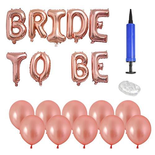 TIMESETL Mariée À Bannière Ballons Lettres Papier Aluminium Or Rose pour Mariage/Soirée Célibataire