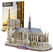 CubicFun National Geographic 3D Puzzles for Adults and Kids, France Architecture Model Building Kits as Stress Relief Puzzle Gifts for Women and Men, Notre Dame de Paris 128 Pieces