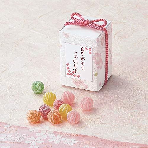 プチギフト 退職 お礼 お菓子 敬老の日 ハロウィン ありがとう おしゃれ『さくら ぼっくす(てまりキャンディー)』お礼 お返し ばらまき用 個包装 職場 大量 業務用(15個セット)