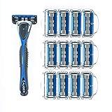 Personna Men's 5 Blade Razor System - Mens Shaving Razors - Razor Handle with 12...
