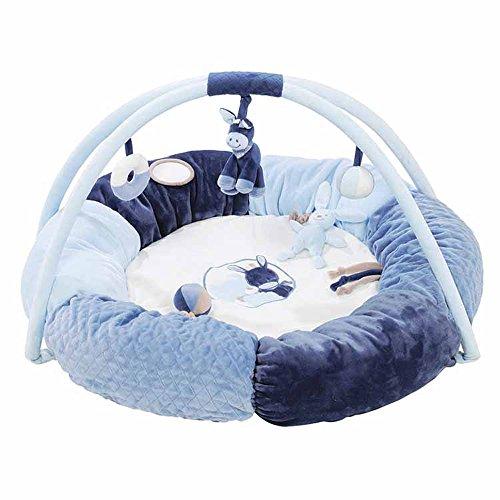 Nattou, tappetino imbottito per neonato, con arco e giochi