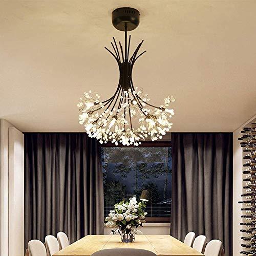 Moderna lámpara de techo LED creativa de diente de león tricolor Dimming lámpara de techo dormitorio restaurante bar decoración de bar espacio aplicable 15-25 metros cuadrados tienda decoración de techo luces hermosas