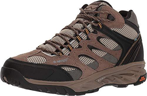 HI-TEC Men's V-LITE Wild-FIRE MID I Waterproof Hiking Boot, Taupe/Dune/core Gold, 110M Medium US