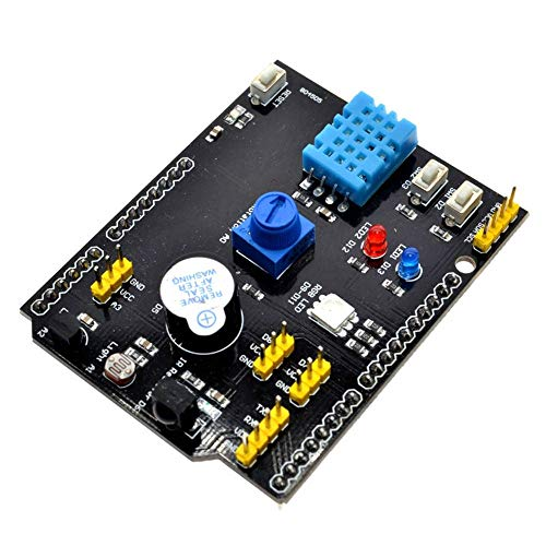 Multifunction Expansion Board DHT11 LM35 Temperature Humidity For Arduino UNO RGB LED IR Receiver Buzzer sensor