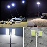 Pstars Telescopic COB Rod LED Fishing Lamp Outdoor Camping Lantern Hiking BBQ Night Light