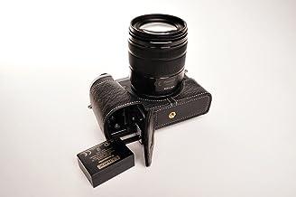 TP Original Panasonic LUMIX DMC-GX8 GX8 専用 オープナブルタイプ 本革 ボディケース (ブラック)(底面開閉)