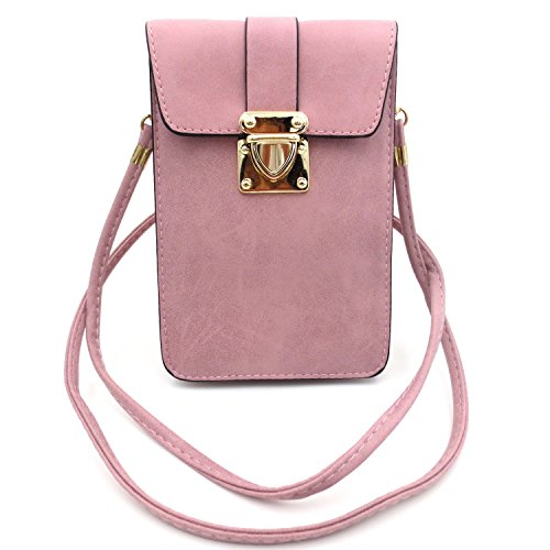 Luxury Matte PU Leather Mini Crossbody Single Shoulder Bag Cellphone Pouch Wallet Case for iPhone X 8 7 6 Plus 5S 4 Samsung Galaxy S5/S4/S3