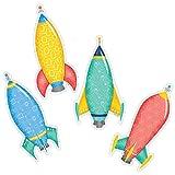 "Creative Teaching Press Mid Century Mod Rockets 6"" Cut-Outs (8224)"