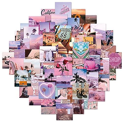 Pegatina de paisaje de California Sunshine rosa curativo DIY Equipaje Teléfono Portátil Decorado Graffiti Sticker 60pcs