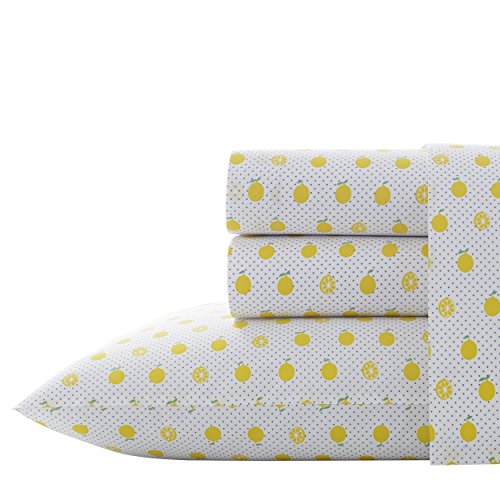 Poppy & Fritz Lemons Sheet Set, Twin, Bright Yellow