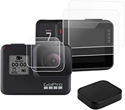 KELIFANG Screen Protector Compatible with New Gopro Hero 7 Black (2018) / Hero 6 / 5 Black Action Camera with Lens Protector, Lens Cap Cover and Screen Protector Film Accessories (5 PCS)
