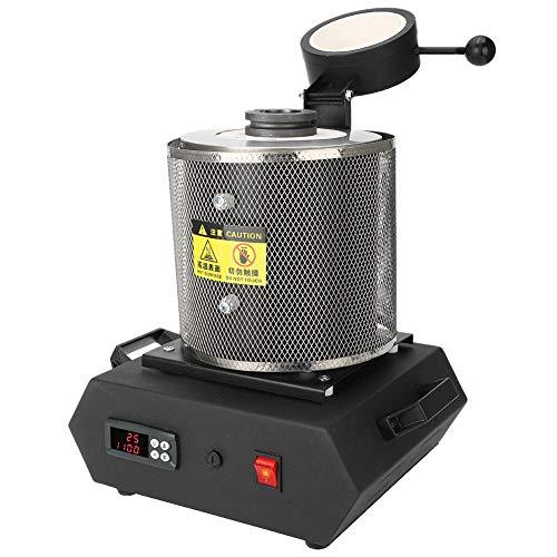 ZJchao Horno de fusión de Oro, máquina de fusión pequeña, Horno de fundición de Oro, Plata y Cobre para fusión a Alta Temperatura de Joyas de Oro y Plata, 110 V (2KG EU)