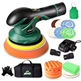 BATOCA - Cordless Car Buffer Polisher - with 12V Lithium Rechargeable Battery Brushless Polisher with Variable Speed, 2pcs 2.0Ah Portable Wireless Buffer Kit for Buffer/Polisher/Sander